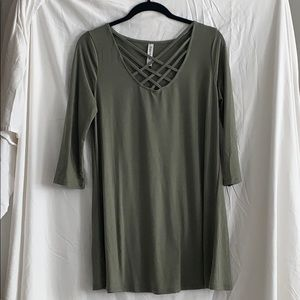 NWOT Army Green Tunic